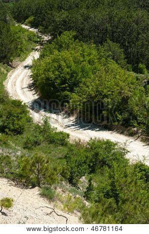 Winding Unpaved Road