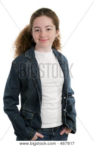 Cool Teen In Denim