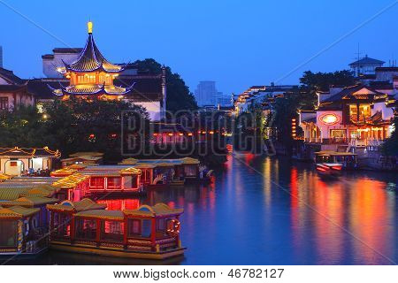 Boat Cruise On The Canal In Confucius Temple