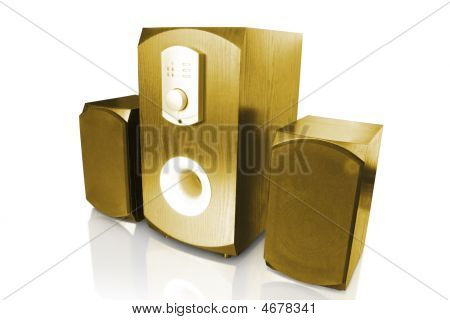 Computer Speakers And Amplifier