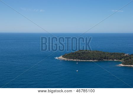 Green Island In The Middle Of The Sea