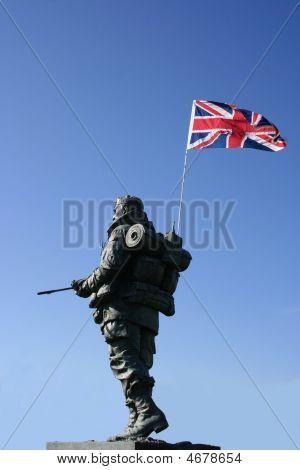 Royal Marine With Union Jack Flag