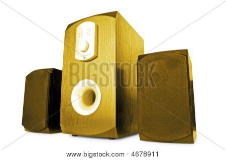 Music. Stylish Speakers Isolated