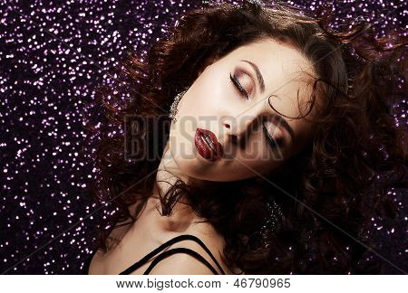 Dreaminess. Sultry Woman In  Reverie. Femininity & Sensuality