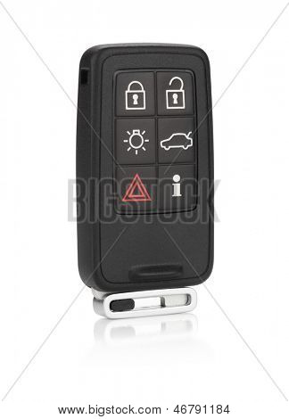 Car remote key. Isolated on white background