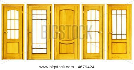 Set Of Doors Isolated
