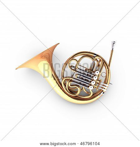 3D french horn (cor).