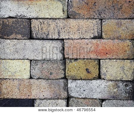Stacked Fireproof Bricks Background