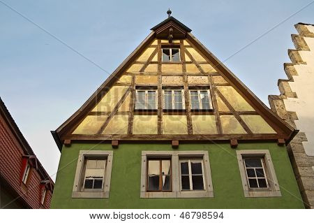 Facade Of Old Medieval House
