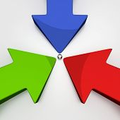 picture of regrouping  - 3D Arrows  - JPG