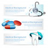 stock photo of antibiotics  - illustration of Healthcare and Medical with medicine and stethoscope - JPG