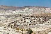 stock photo of semi-arid  - Erosion of the ground in Cappadocia - JPG
