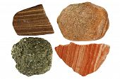 foto of feldspar  - Collage of four different sandstone samples from Germany  - JPG