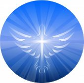 picture of holy-spirit  - A symbolized vector illustration of a dove and cross representing God - JPG