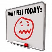 pic of feelings emotions  - A face with a stressed - JPG