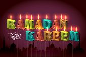 stock photo of jawi  - Ramadan Candles - JPG