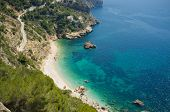 picture of costa blanca  - Secluded Mediterranean beach around Cabo de la Nao Costa Blanca Spain - JPG