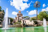 picture of fountains  - Fountain of Parc de la Ciutadella in Barcelona Spain - JPG