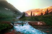 image of landforms  - Glacier National Park - JPG