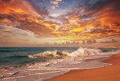 stock photo of tide  - sea sunset - JPG
