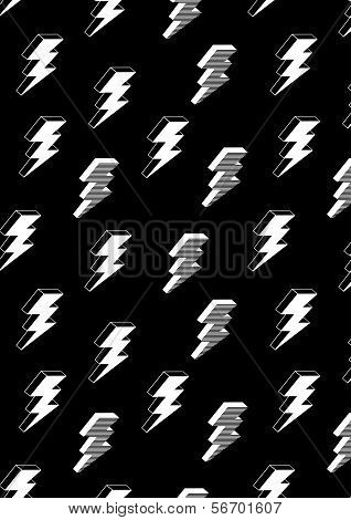 Lightning With Stripes Pattern
