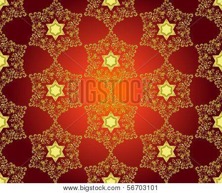 David stars, seamless background