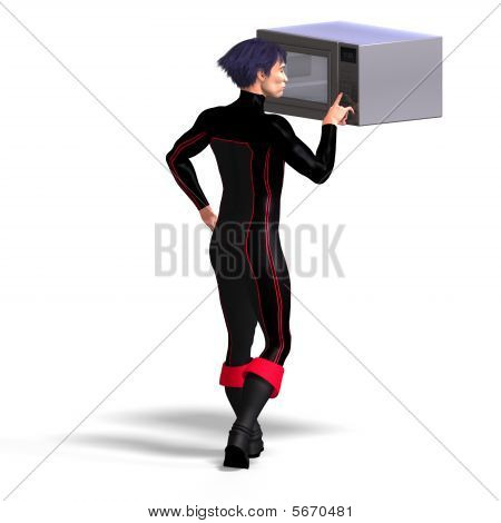 Superhero Uses A Microwave