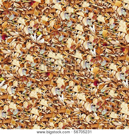 Seamless autumnal carpet background