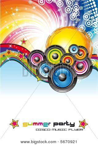 Music Colorful Background For Flyers with high contrast colors