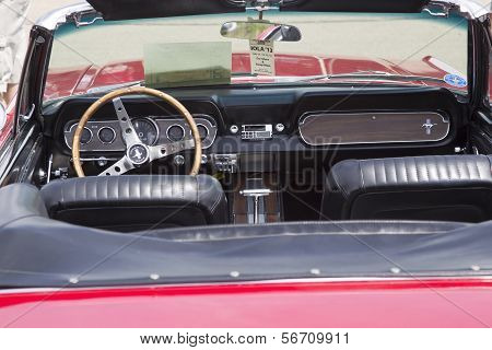 1966 Red Ford Mustang Convertible Interior