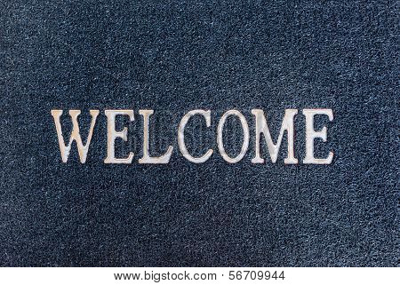 Old Welcome Doormat Close Up