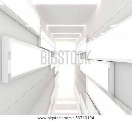 Abstract White Interior Rendering
