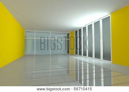 Empty Room For Interior Seminar Room Color Wall
