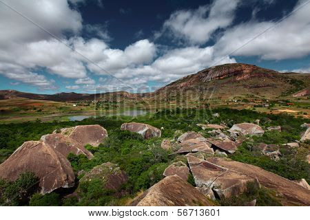 Rocky land of Anja reserve. Madagascar