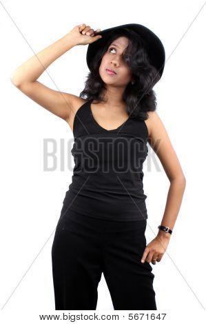 Glamorous Fedora Girl