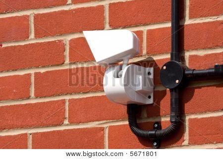 Cctv Camera On A Wall