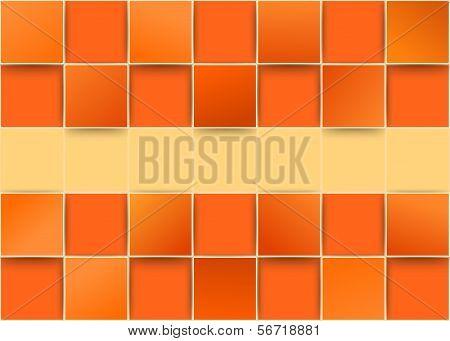 Orange Tiles Threedimensional - Illusion