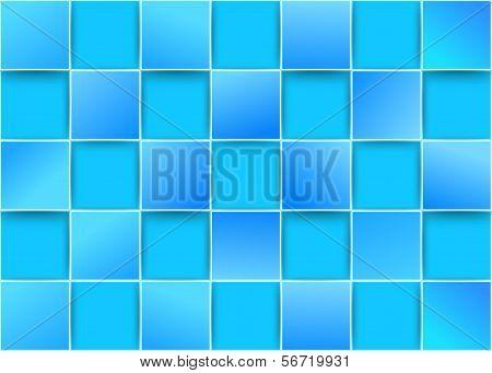 Blue Tiles - Threedimensional Background