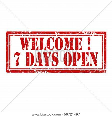 Welcome-7 Days Open-stamp