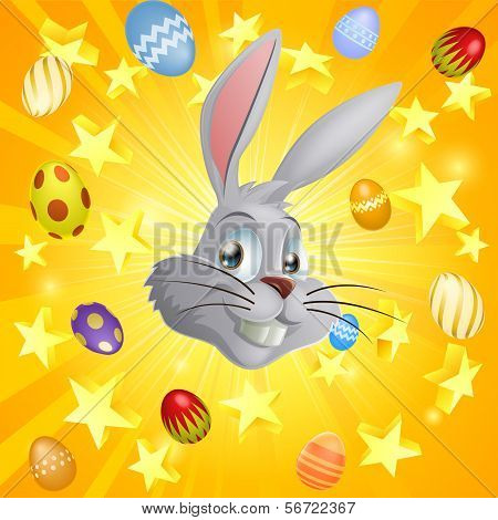 White Easter Bunny Background