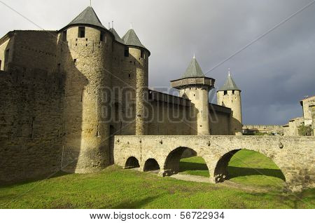 Medieval castle in Carcassonne