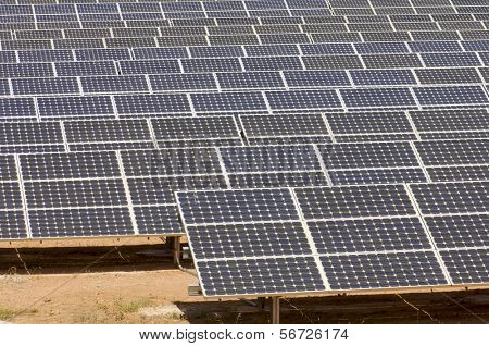 detail of a photovoltaic panels