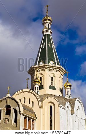 Dome Of The Temple Of The Great Martyr Tatiana. Kaliningrad (until 1946 Koenigsberg), Russia