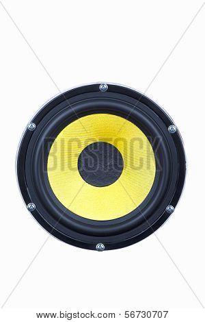 Mid-bass Speaker Isolated Against White