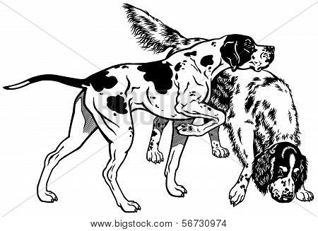 Pointer And Setter Black White