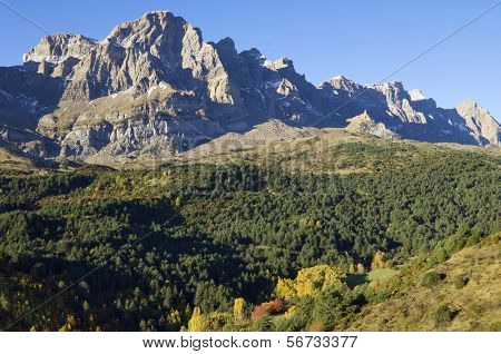Autumn in Partacua Mountains, Tena Valley, Pyrenees, Huesca, Aragon, Spain