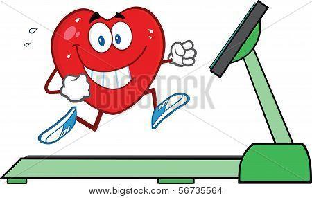 Healthy Heart Running On A Treadmill