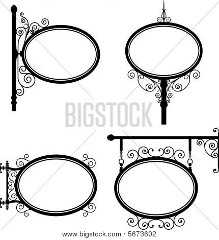 Oval signs