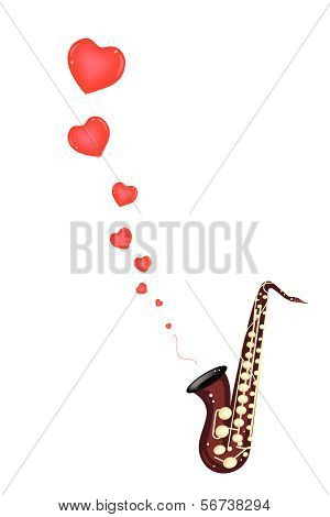 A Musical Bass Saxophone Playing Love Song