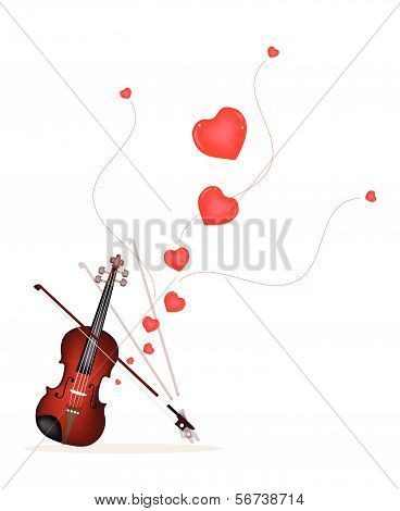 A Beautiful Violin On Playing A Love Music